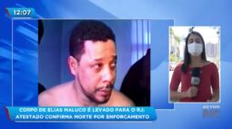 Corpo de Elias Maluco é levado para o RJ: atestado confirma morte por enforcamento