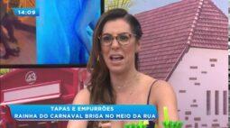 Rainha do carnaval Camila Silva  briga no meio da rua