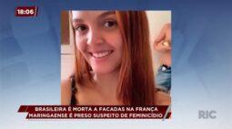 Brasileira é morta a facadas na França: maringaense é preso suspeito de feminicídio
