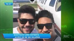 Gusttavo Lima ostenta avião de R$ 180 milhões