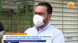 Paraná antecipa vacinação contra paralisia a meta é vacinar 95% das crianças