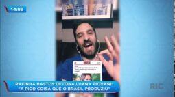 """Rafinha Bastos detona Luana Piovani """"A pior coisa que o Brasil já produziu"""""""