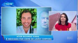 Ator Ricardo Viana é indiciado por crime de lesão corpora