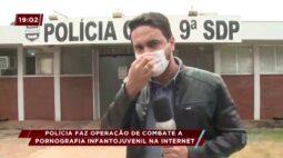 Policia faz operação de combate a pronografia infantil na internet