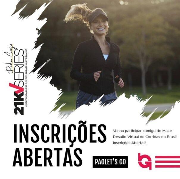 Circuito de meias-maratonas virtuais terá desafio da Paola Carrijo