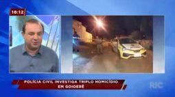 Polícia civil investiga triplo homicídio em Goioerê