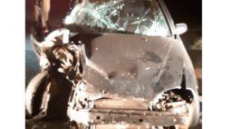 Duas pessoas ficam feridas em acidente na BR-277, em Cascavel