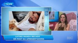 Latino manda recado para marido de Daniela Albuquerque em post