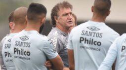 Santos marca treino no fim da tarde para fugir do calor no Paraguai