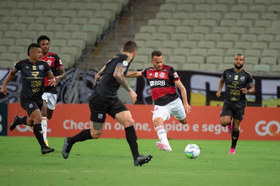 Diego lamenta chances perdidas do Flamengo na derrota para o Ceará