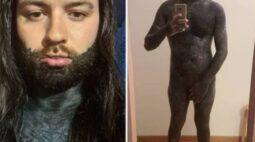 """Homem fascinado pela dor enfrenta 400 horas de tatuagem: """"melhor coisa que já fiz"""""""
