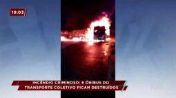 Incêndio criminoso 6 ônibus do transporte coletivo ficam destruídos