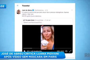 Luana Piovani testa positivo para covid-19 e é criticada por José de Abreu