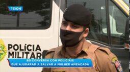 Policiais salvam vida de mulher feita de refém