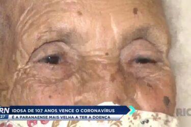 Idosa de 107 anos vence o Coronavírus