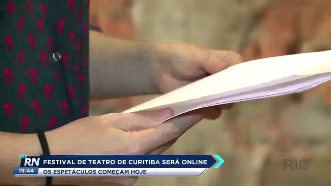 Festival de teatro de Curitiba será online