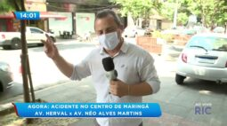 Acidente no centro de Maringá: av. Herval x av. Néo Alves Martins