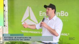 Ratinho Junior participa de inauguração de usina de biogás
