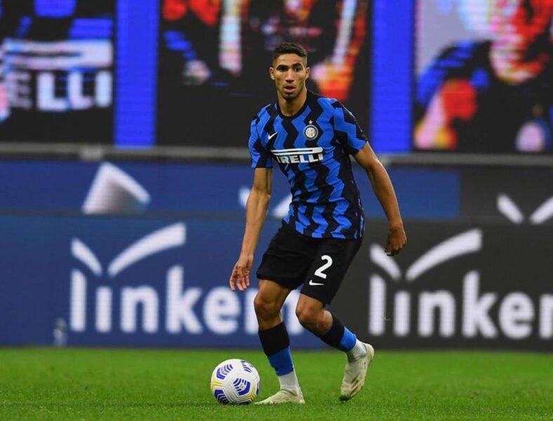 Hakimi é diagnosticado com covid-19 e vira desfalque na Inter de Milão