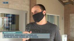 Bandidos arrombam conselho tutelar duas vezes em 72 horas