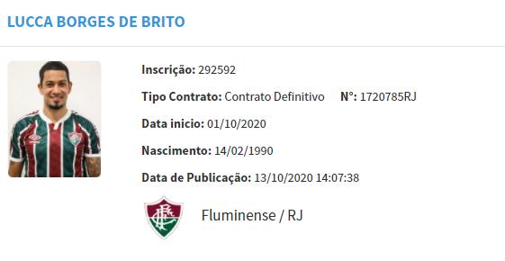 Lucca é regularizado e pode estrear pelo Fluminense