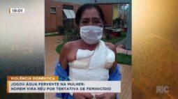 Homem que jogou água fervente na mulher vira réu por tentativa de feminicídio