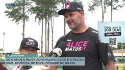 Menina de 9 anos é a piloto mais jovem da motovelocidade no Brasil