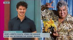 José Loreto vai interpretar Sidney Magal e posta vídeo de ensaio