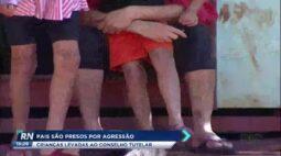 Pais são presos por agressão e crianças são levadas ao conselho tutelar