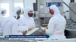 Cresce consumo e produção de sorvetes e fábricas ampliaram produção