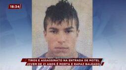 Tiros e assassinato na entrada de motel: jovem de 21 anos é morta e rapaz é baleado