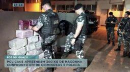 Confronto entre criminosos e polícia: apreensão de 300 kg de maconha