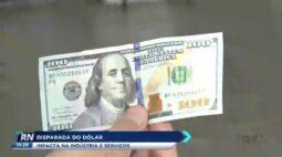 Disparada do dólar impacta na indústria e serviços