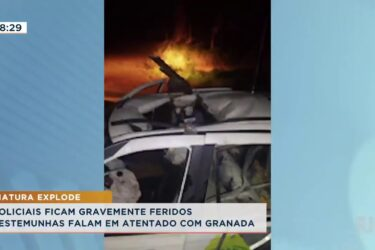 Policiais ficam gravemente feridos, testemunhas falam em atentado com granada