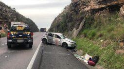 Homem morre e outras duas pessoas ficaram feridas em acidente na BR-277