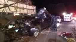 Acidente na PR-466 deixa duas pessoas mortas em Boa Ventura de São Roque