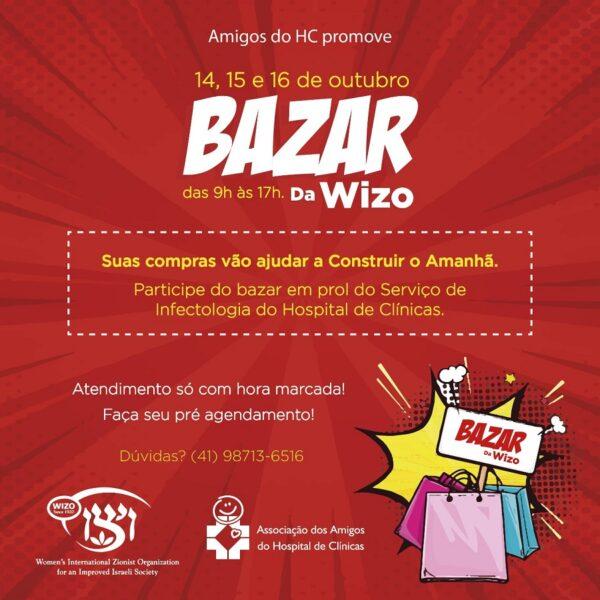 Amigos do HC e Wizo Paraná promovem Bazar Beneficente