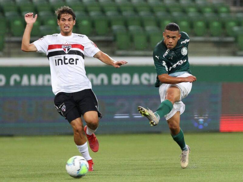 Palmeiras vence clássico contra o São Paulo e encosta nos líderes do Brasileirão Sub-20
