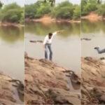 Candidato cai em rio durante gravação de propaganda eleitoral; assista