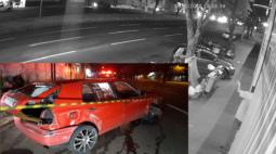 Motorista perde controlo do veículo e carro capota na Avenida Colombo, em Maringá