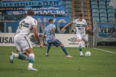 Coritiba perde para o Grêmio e acumula três jogos sem vencer