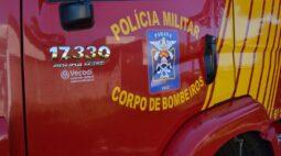 Colisão entre caminhão e carro deixa três feridos na PR-340, em Castro
