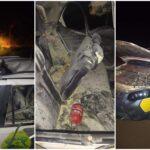 Policiais ficam feridos após explosão de viatura na cidade de Ipiranga