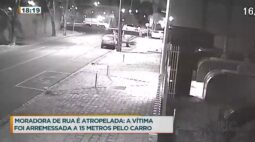 Moradora de rua é atropelada e motorista foge do local sem prestar socorro