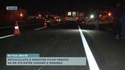 Motociclista e pedestres ficam feridos entre Sarandi e Maringá