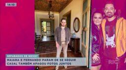 Maiara e Fernando param de se seguir e apagam fotos juntos