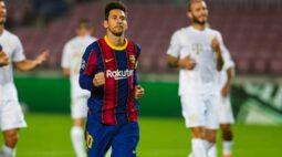 Com recorde de Messi e gol de Coutinho, Barcelona goleia o Ferencváros na estreia da Liga dos Campeões