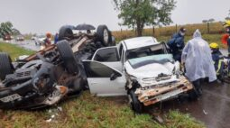 Casal fica gravemente ferido após acidente em Maria Helena
