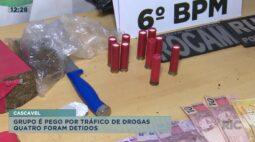 Quatro pessoas são autuadas por tráfico de drogas