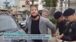 Ex-BBB Diego Alemão é indiciado pelo MP, por embriaguez ao volante e outros crimes
